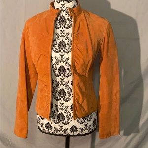 Wilsons Leather Orange suede Jacket